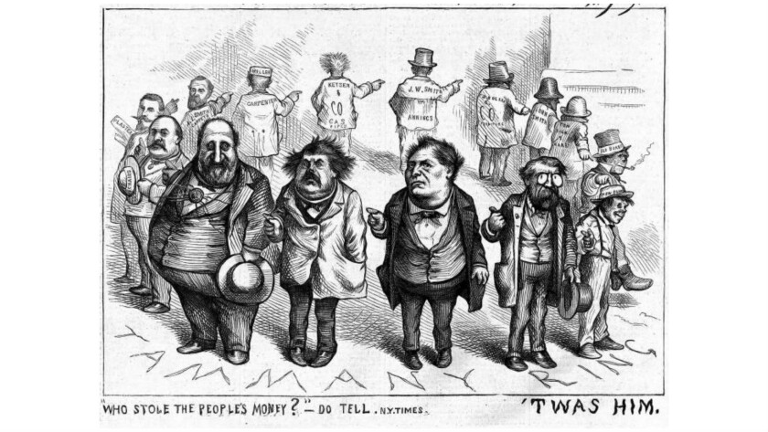 Thomas Nast's politically incorrect view of politics: Probably not acceptable in an Oklahoma AP History course.