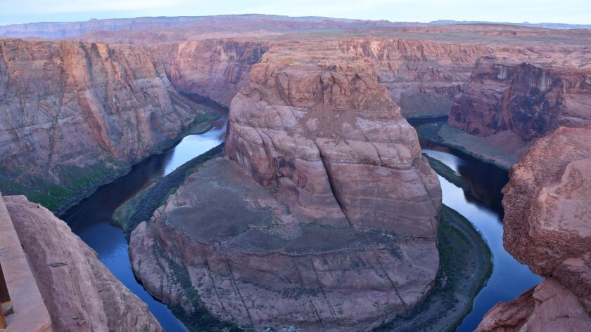 The Colorado River's Horseshoe Bend is part of Glen Canyon National Recreation Area, outside Page, A