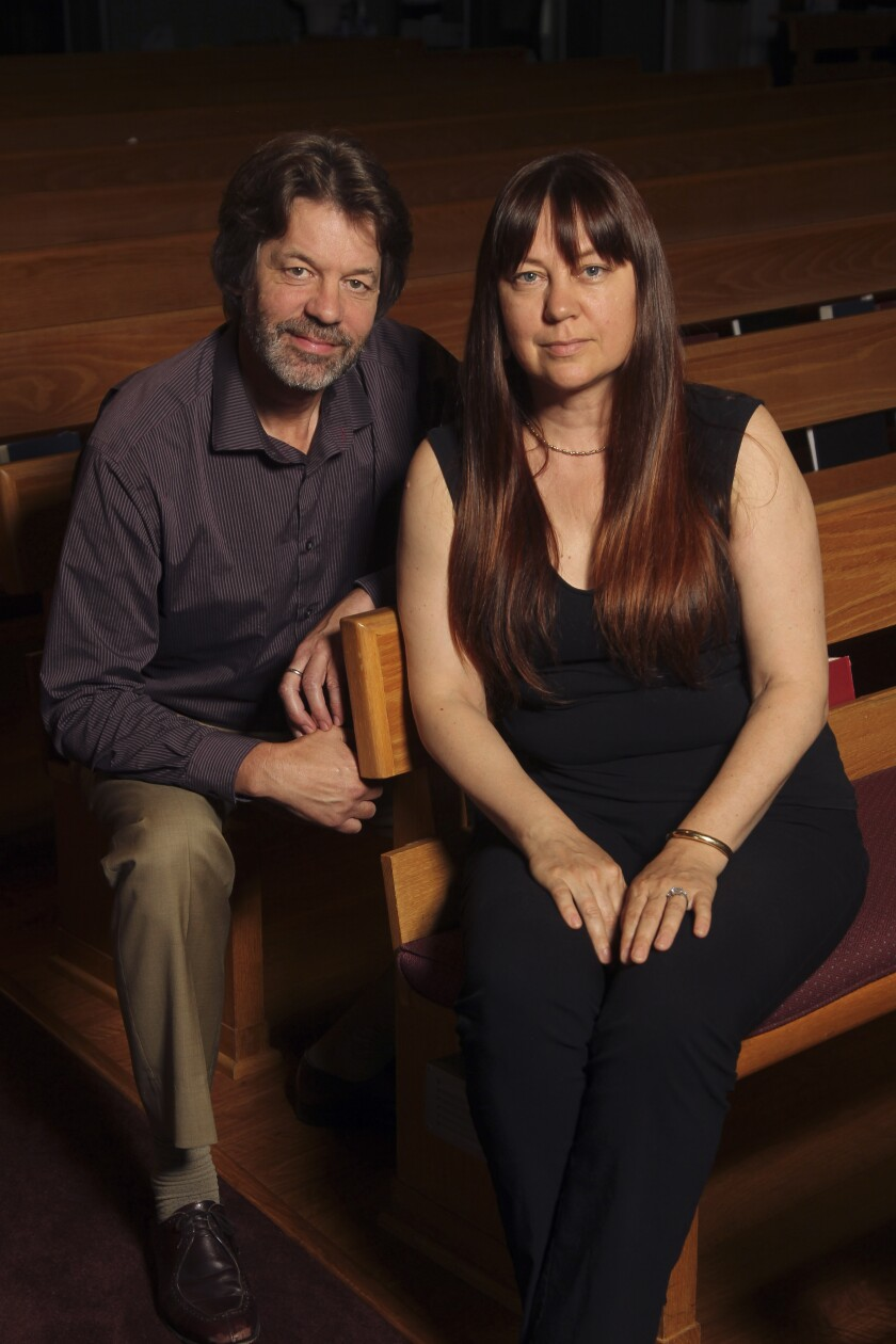 "Executive director Justin Gray and conductor Alexandra Keegan of Pacific Lyric Association, which will present Charles Gounod's ""Romeo and Juliet"" opera in October at the California Center for the Arts, Escondido."