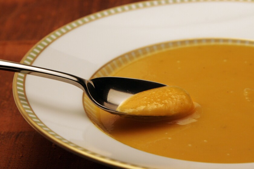 Joan's on Third's butternut squash and pear soup
