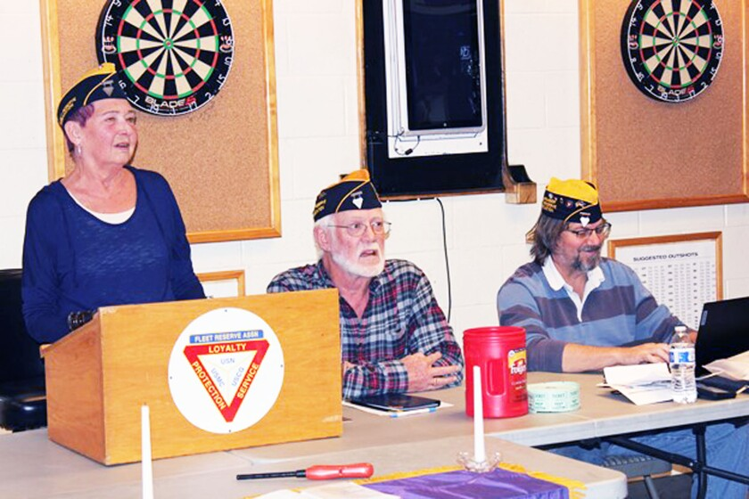 FRA President Alice Smith, Vice President Chuck Cross and Treasurer Ray Caston at a February 2020 meeting.