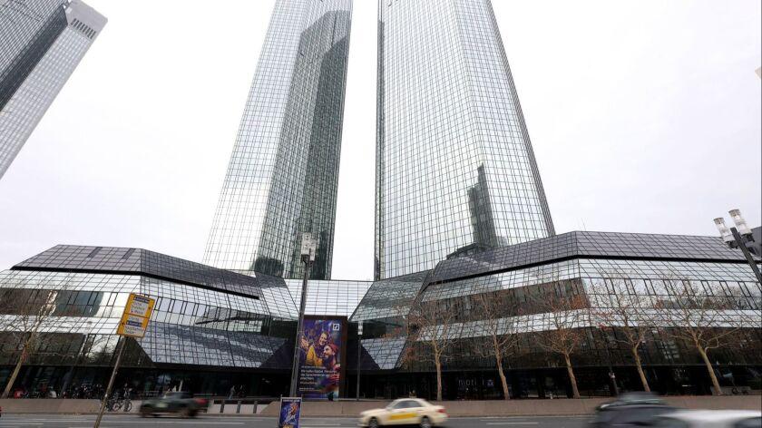 Searches at Deutsche Bank in Frankfurt, Germany - 29 Nov 2018