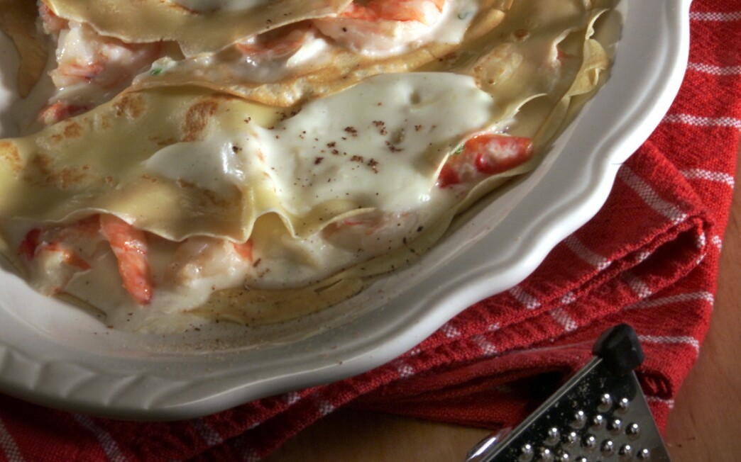 Thyme's Crab and Shrimp Crepes