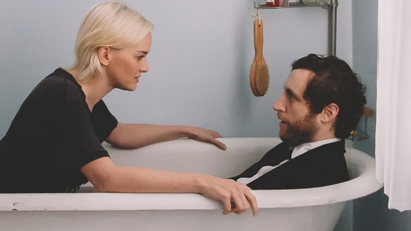 """Jess Weixler and Thomas Middleditch in the movie """"Entanglement."""""""