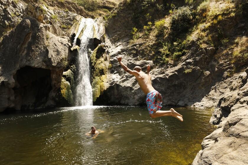Paradise Falls at Wildwood Regional Park in Thousand Oaks