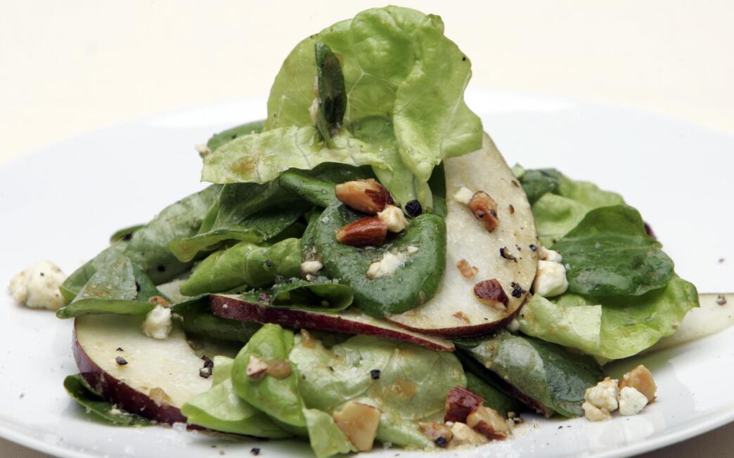 Butter lettuce salad with cipolline vinaigrette