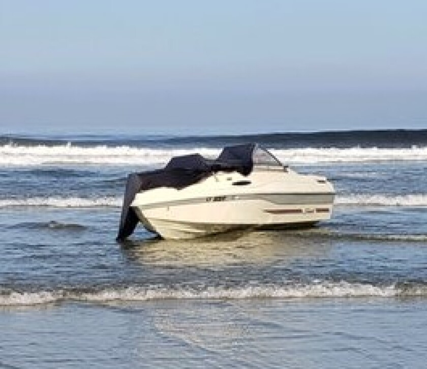Border Patrol agents found an abandoned boat at Black's Beach in La Jolla on April 25, as well as seven life jackets, but no people.