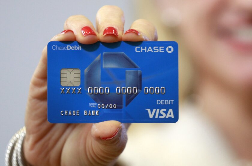 A sample Chase debit card with EMV technology