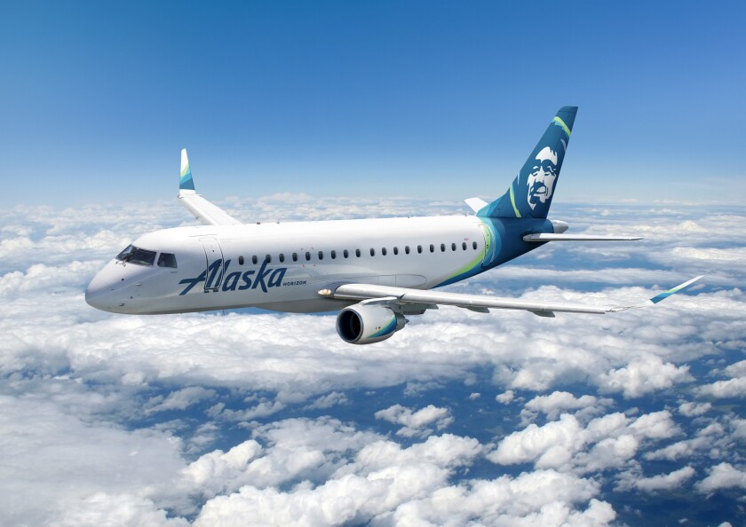 Alaska Airlines will be using a 76-seat aircraft to serve six new nonstop routes out of San Diego International Airport.