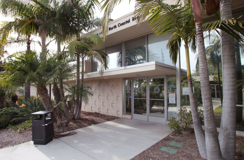 View of the front of the main building of San Diego County's North Coastal Health & Human Services Agency in Oceanside. Built in 1957, it is part of a three-building complex set to be torn down next year and be replaced with a larger facility.