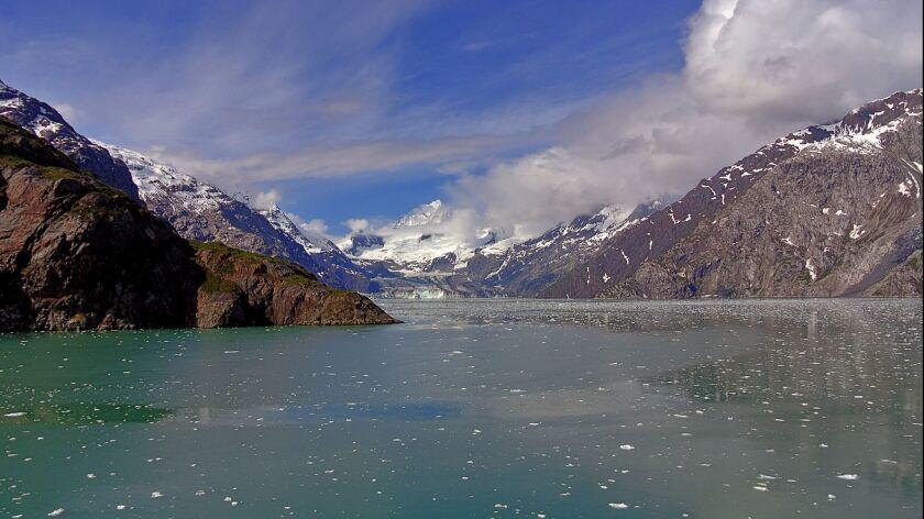 GLACIER BAY, ALASKA: As travelers head deeper into Glacier Bay the small icebergs grow thicker, lik