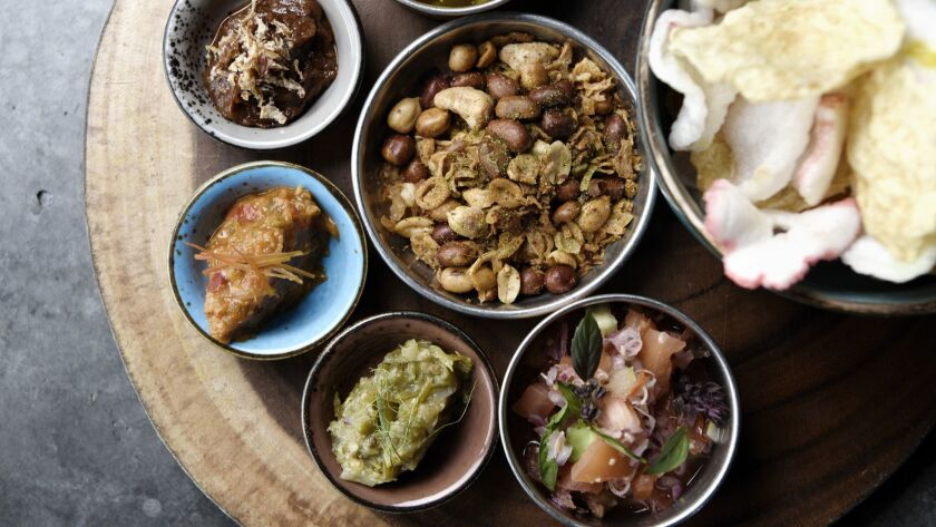 Review: Kasih in Little Tokyo is a shrine to fiery Indonesian sambals, curries and meats