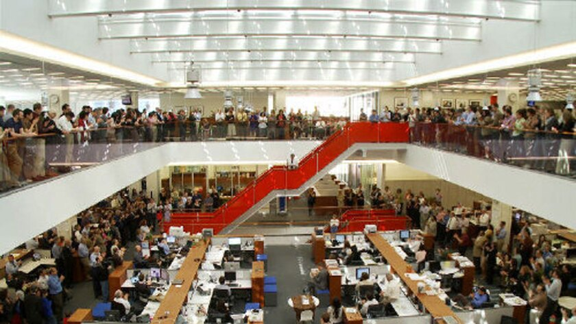 The New York Times newsroom.