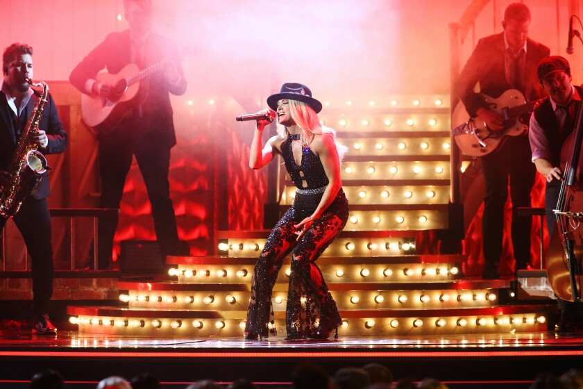 Carrie Underwood performs onstage during the 53rd annual CMA Awards