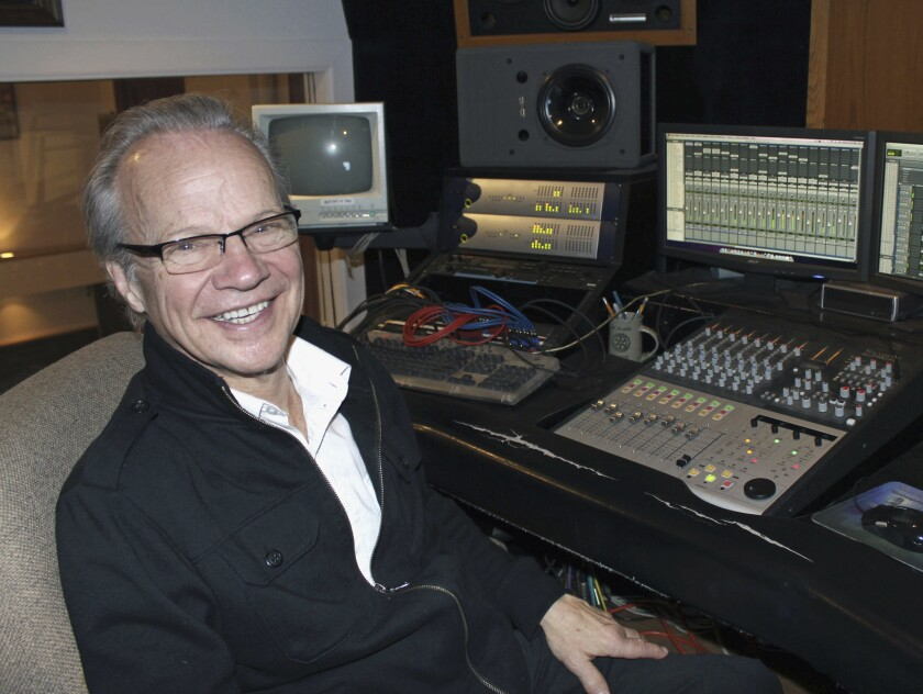 Bobby Vee poses at his family's Rockhouse Productions studio in St. Joseph, Minn., in December 2013.
