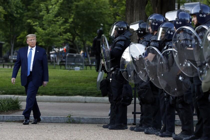 Trump in Lafayette Square