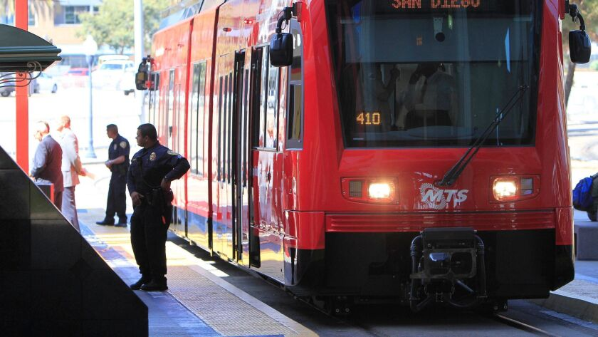 The San Diego Trolley may link up with the airport under a new plan.