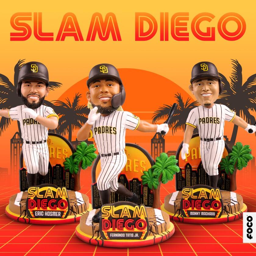 FOCO's Slam Diego Padres bobbleheads