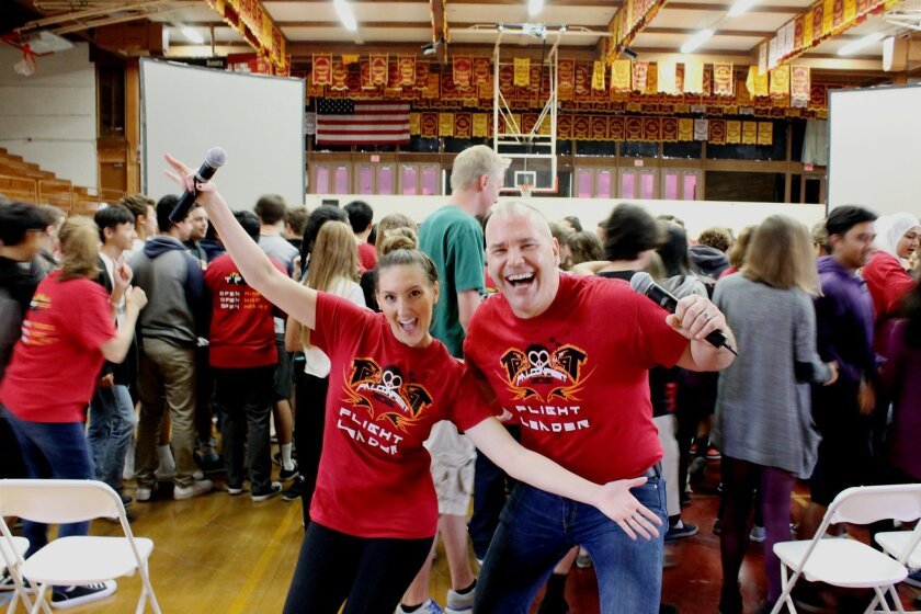 Falcon Fest leaders Natalie Crook and Don Collins.