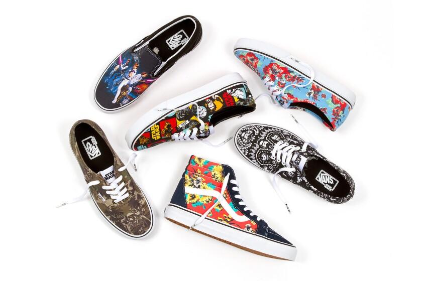 Six Vans sneakers featuring