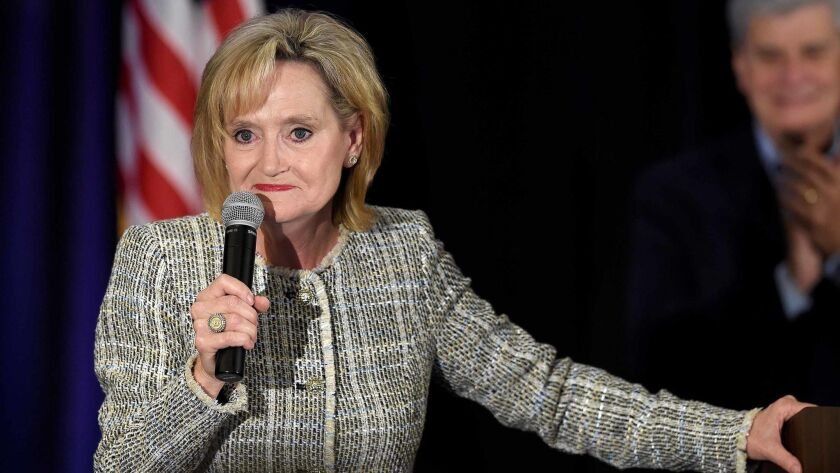 Election night party for Republican US Senator Cindy Hyde-Smith during the 2018 mid-term elections, Jackson, USA - 06 Nov 2018