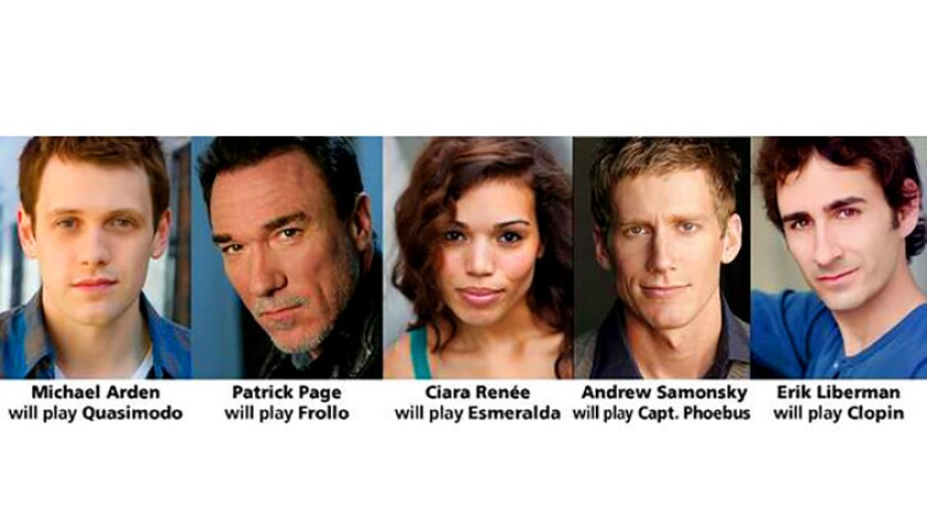 """The cast of the U.S. premiere for """"The Hunchback of Notre Dame"""" at La Jolla Playhouse, Oct. 26-Dec. 14, 2014."""