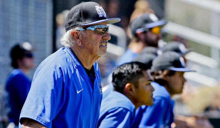 Dennis Pugh, who had the third highest number of baseball wins in San Diego County CIF history, died Friday night. Pugh also coached for 10 years at Cal State San Marcos.