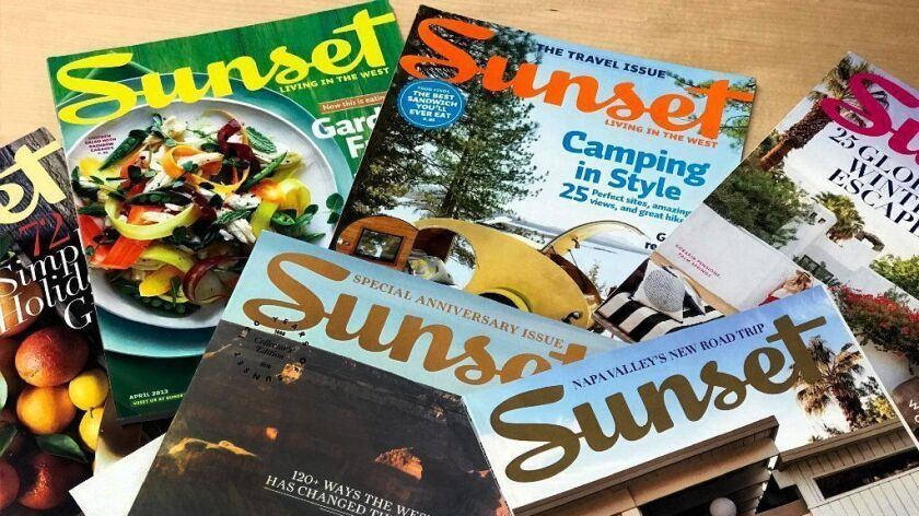 Sunset Magazine covers.