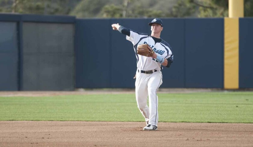 USD junior Kyle Holder rates among the top shortstops in the nation. Holder was selected 2015 West Coast Conference Player of the Year.