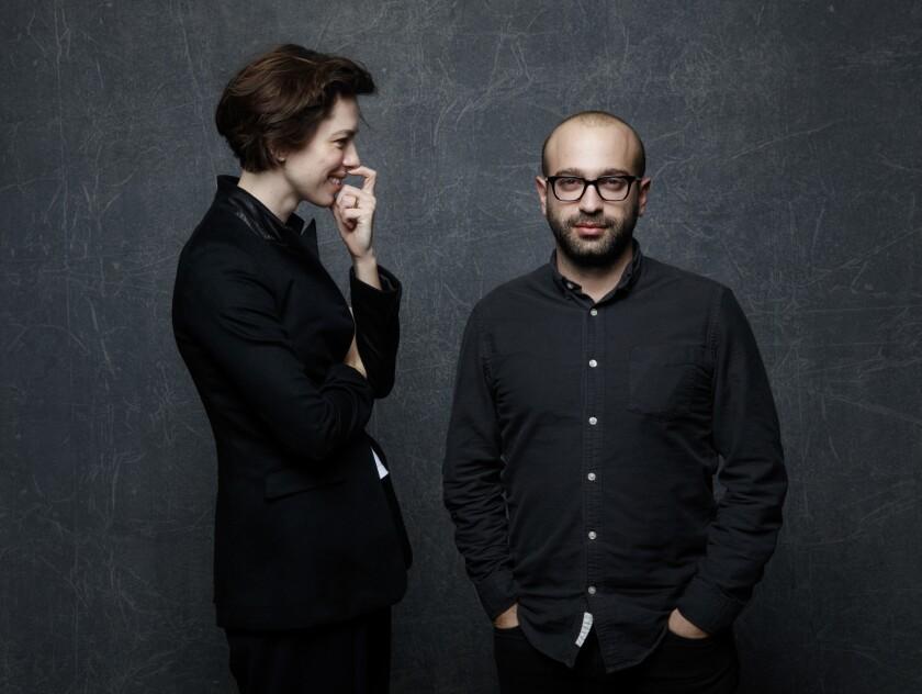 """Christine"" actress Rebecca Hall and director Antonio Campos at the Sundance Film Festival."