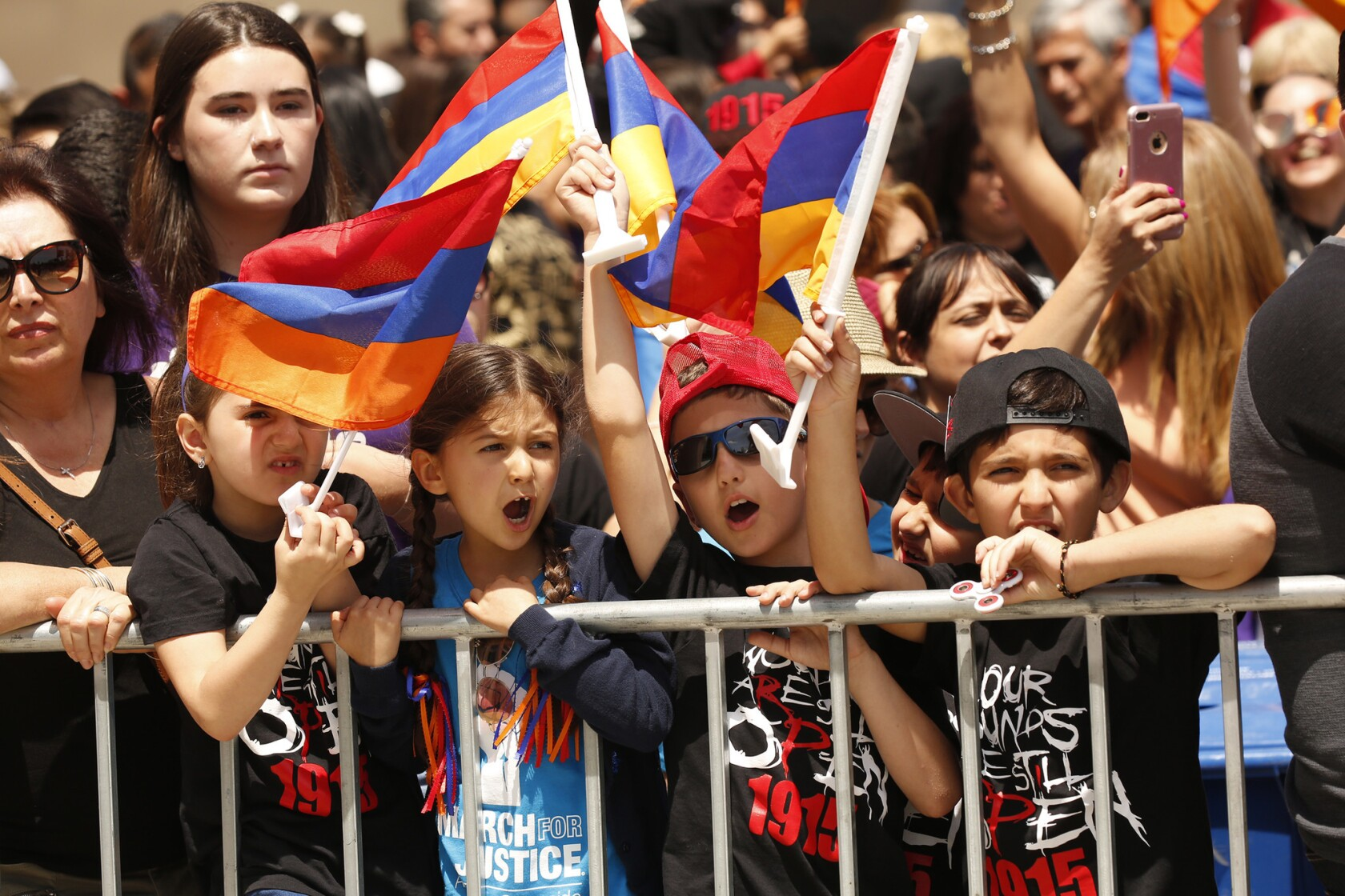Marchers gather to commemorate 102nd anniversary of Armenian