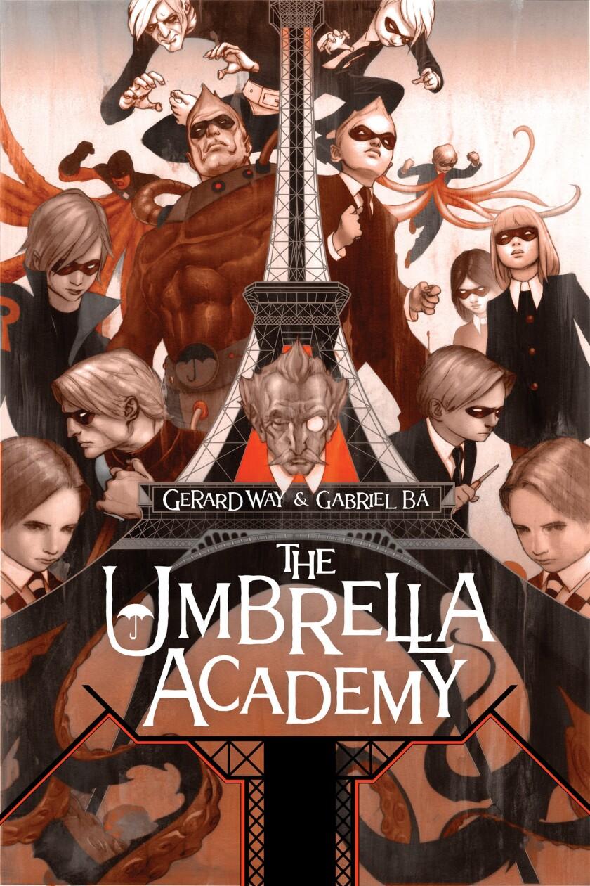 "Cover art from ""The Umbrella Academy"" by Gerard Way and Gabriel Ba. Credit: Dark Horse Comics"
