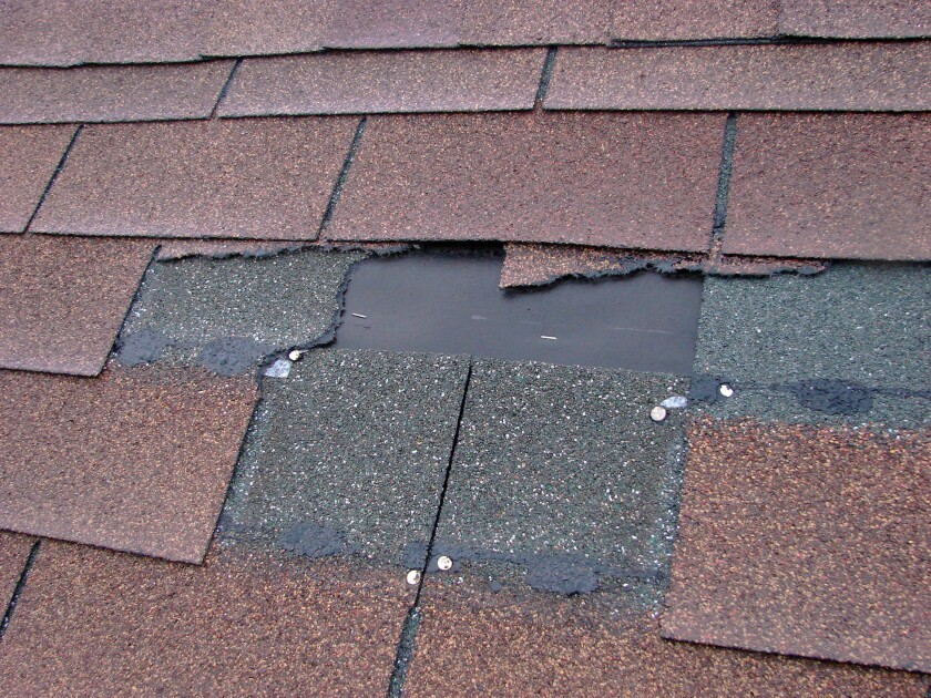 Don't ignore the repair. A roof leak gets worse.