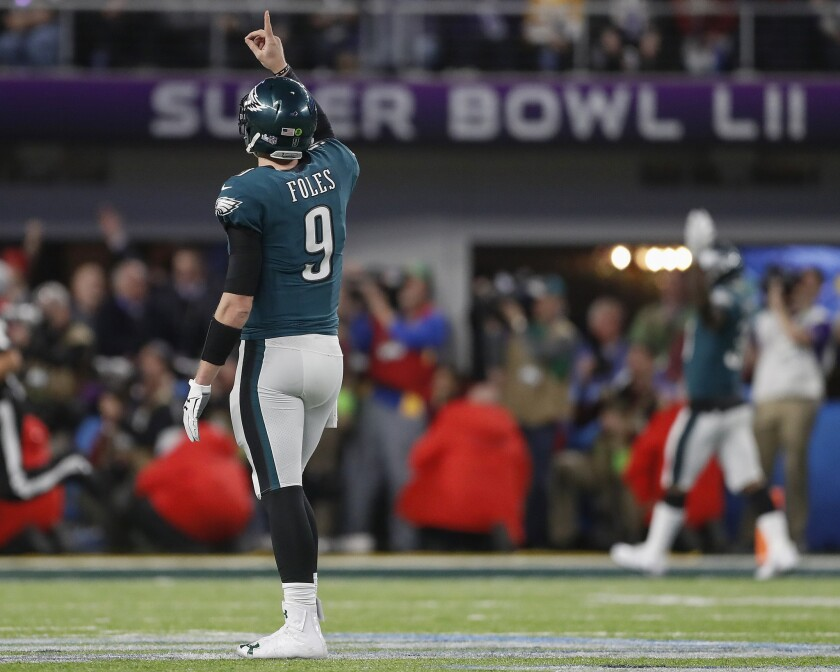 finest selection dc4bf d55ff Column: With unwavering determination, Nick Foles emerges as ...