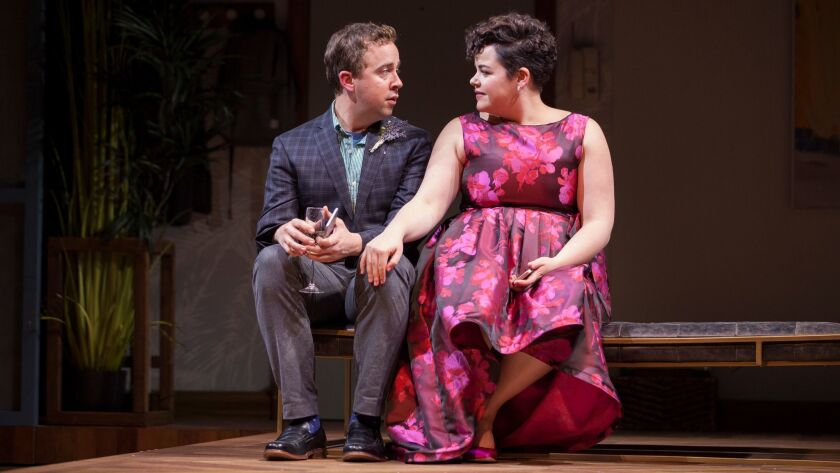 "Will Von Vogt and Melanie Field in the Geffen Playhouse's production of ""Significant Other."""