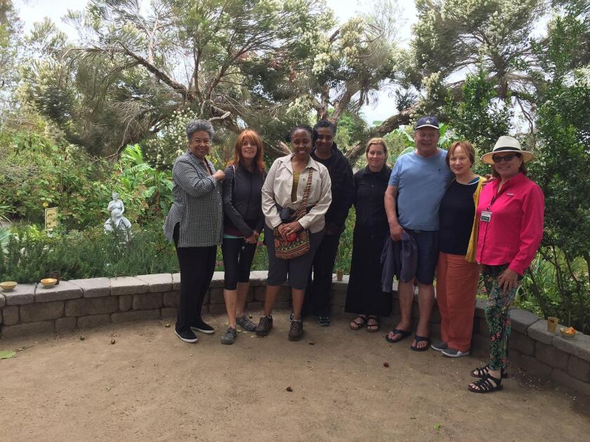 Forest bathers, after a walk on June 23, 2019, at San Diego Botanic Garden in Encinitas. Their guide, Rhana Kozak, is on the far right.