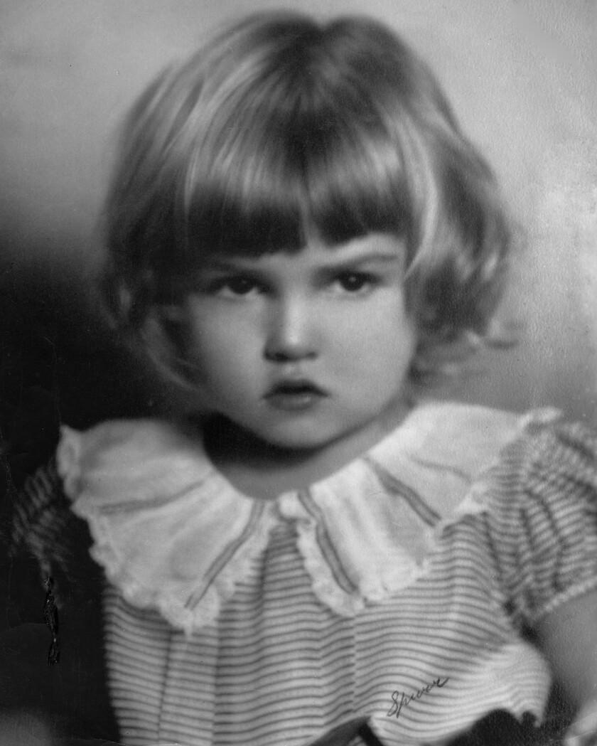 Julie Newmar as a toddler in Los Feliz