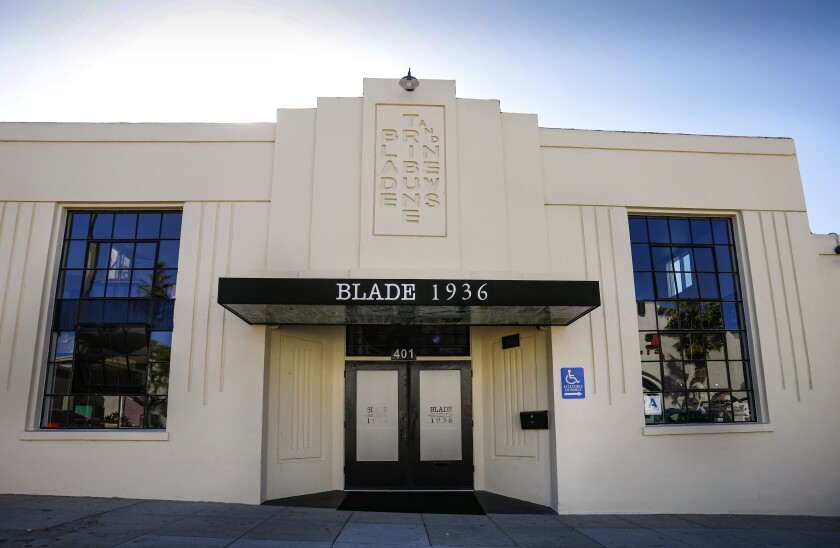 Howard Lipin  U-T The original Blade-Tribune and News building in Oceanside is now home to the restaurant Blade 1936.