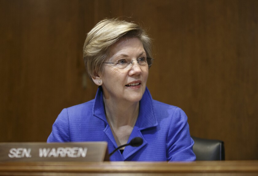 "Last fall when People magazine asked Elizabeth Warren whether she would run, the senator ""wrinkled her nose,"" the magazine reported, and said, nondefinitively: ""I don't think so...."""