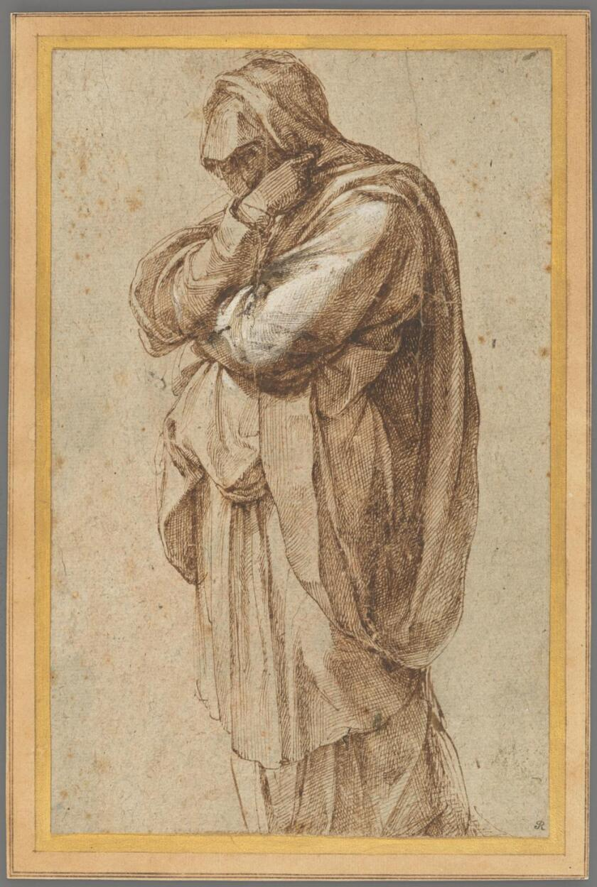 """Michelangelo's """"Study of a Mourning Woman"""""""