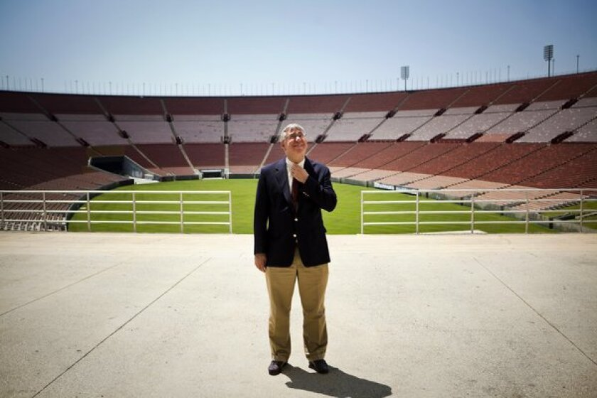 Coliseum official John Sandbrook said during a deposition Tuesday that he did not consider himself a negotiator of the controversial Coliseum lease proposal that would give USC control of the taxpayer-owned stadium, even though he identified himself as such on numerous meeting agendas he drafted.