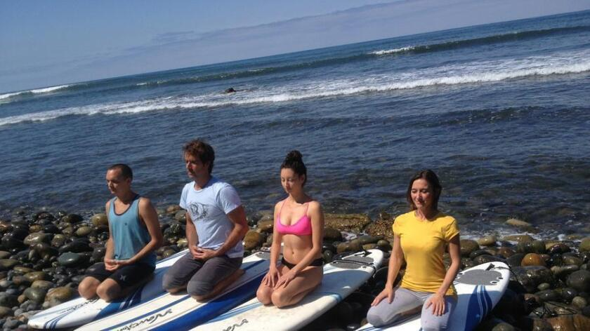 A collaboration with Bird Rock Surf Shop, Floating Lotus Meditation is guided by Deborah Ball, founder and director of Human Nature Wellness Center.