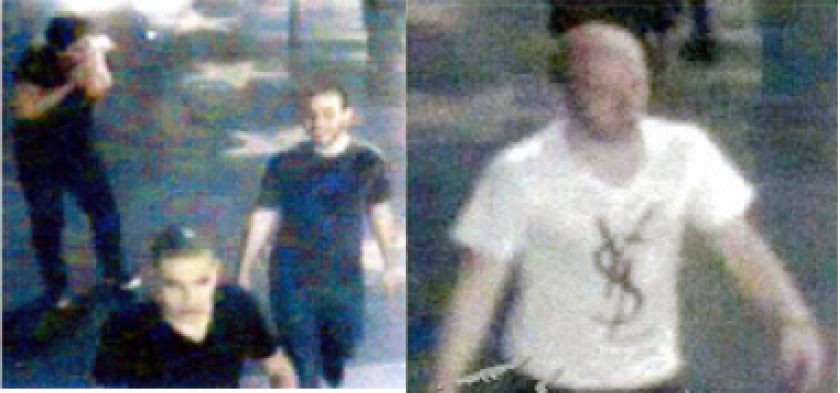 Images released by police in June show four men wanted in the May 31 beating of a transgender woman in Hollywood. Two suspects have been arrested.