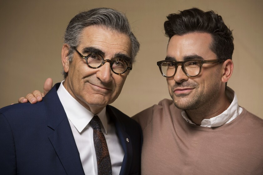 Father and son Eugene and Dan Levy