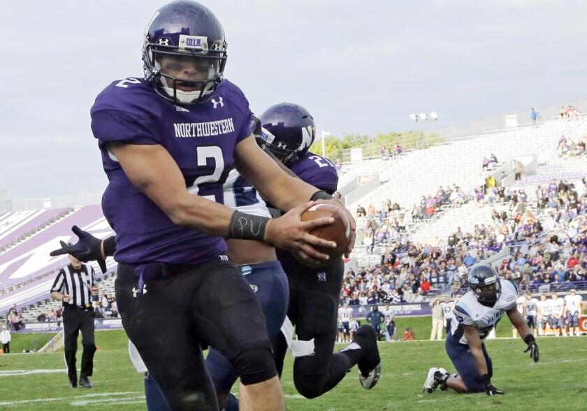 Northwestern quarterback Kain Colter