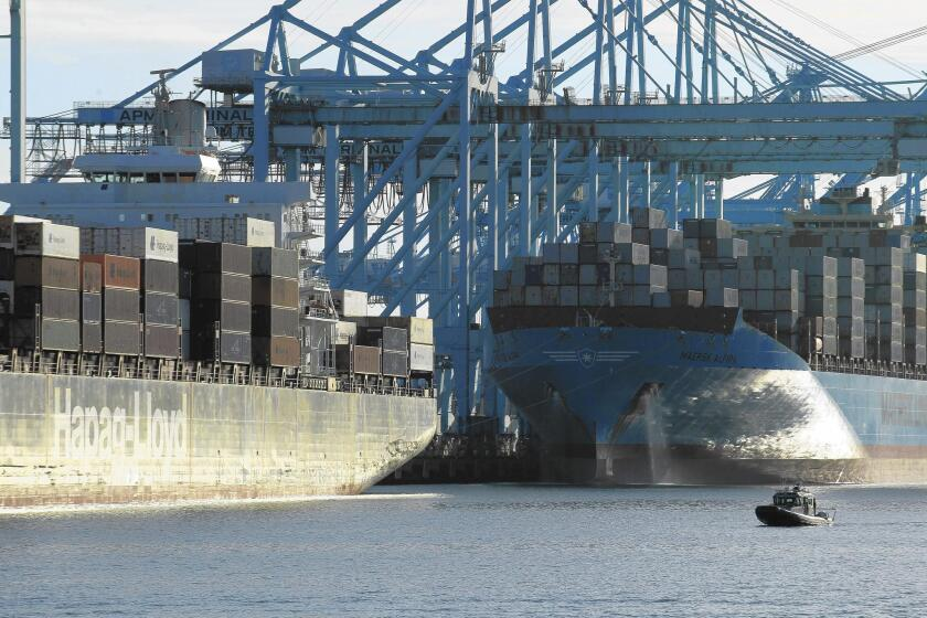 Cargo traffic at the Port of Los Angeles surged in September.