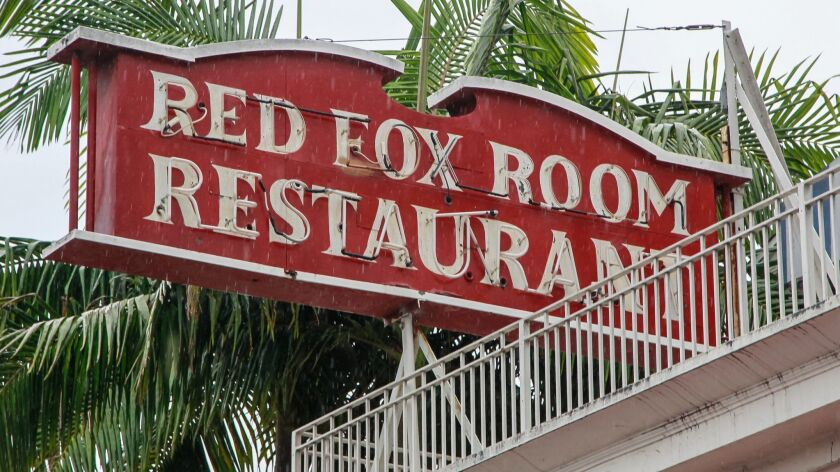 SAN DIEGO, CA December 5th, 2018 | This is the Red Fox Room restaurant on Wednesday in San Diego, Ca