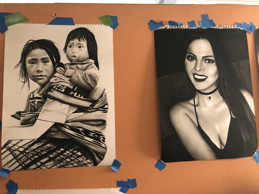 Las obras de arte de Enrique Espinoza destacan el trabajo infantil, la cultura indígena y las mujeres.