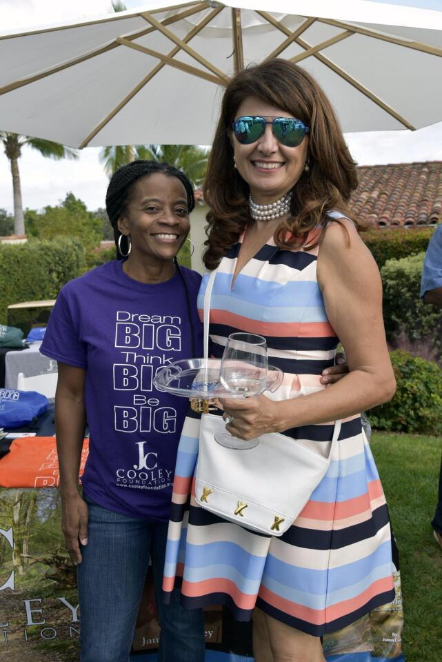 Michelle Cooley of beneficiary JC Cooley Foundation, Taste of Rancho Santa Fe Chief Event Co-Advisor Jamile Palizban