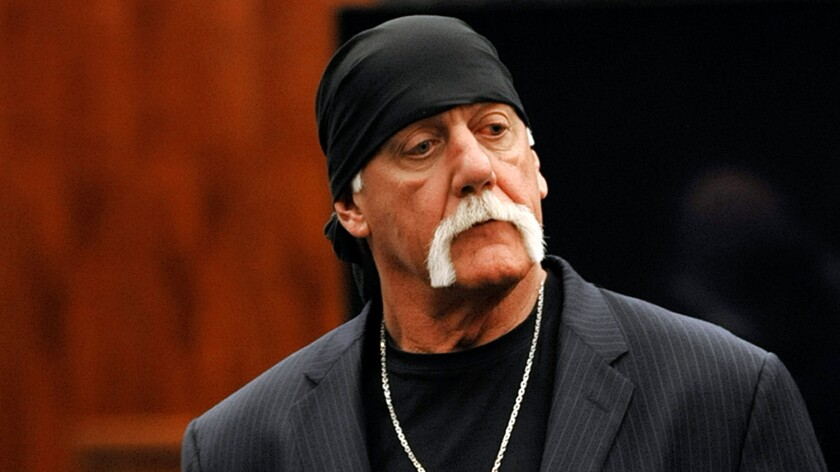 Hulk Hogan, whose given name is Terry Gene Bollea, leaves the courtroom on March 9 during a break in his trial against Gawker Media in St. Petersburg, Fla.